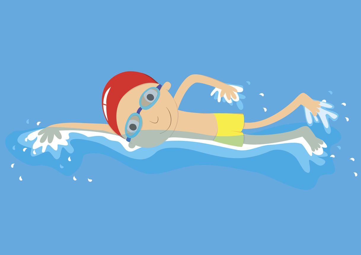 Crawl stroke swimmer